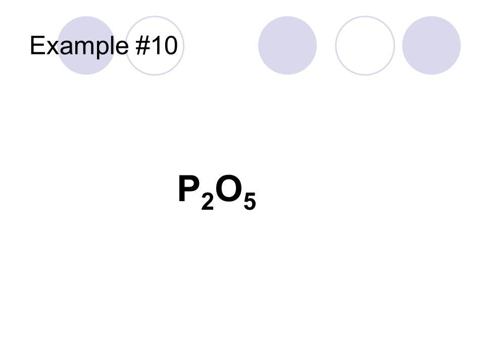 Example #10 P2O5