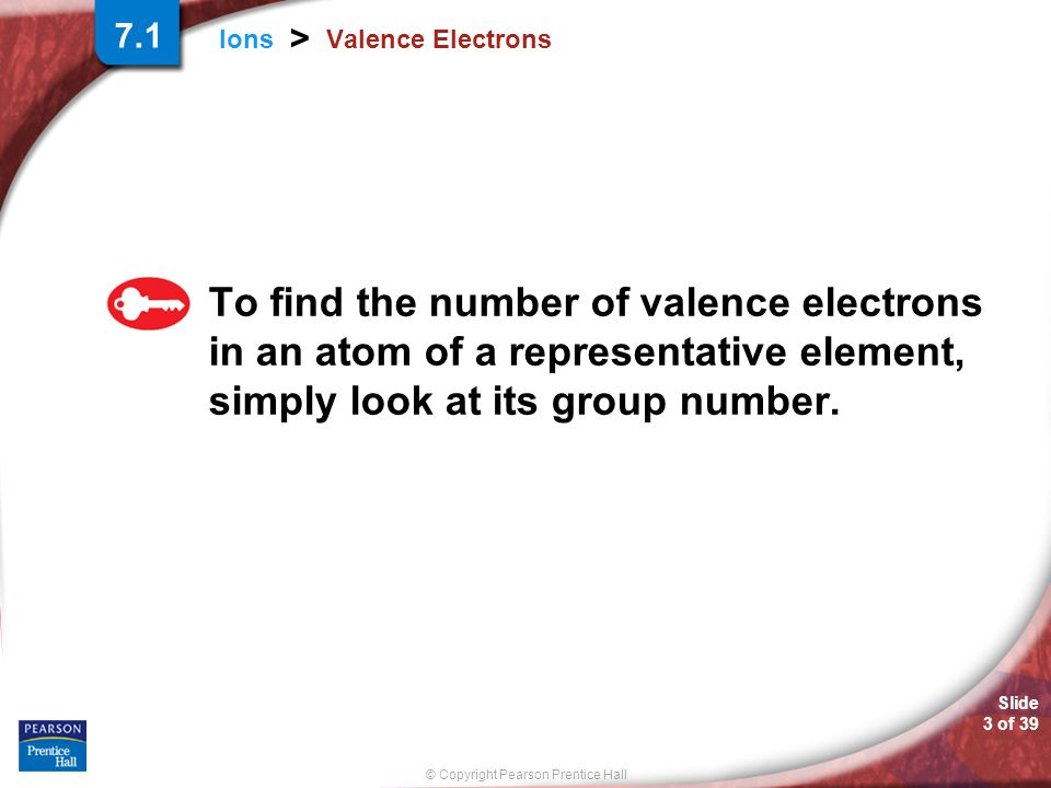7.1 Valence Electrons.