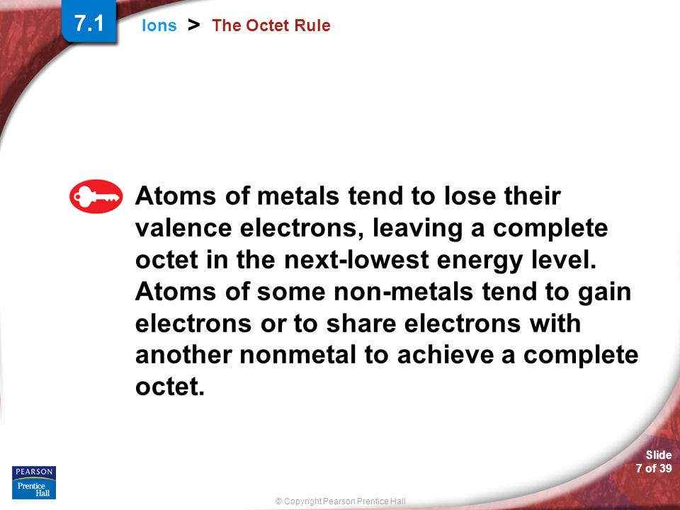 7.1 The Octet Rule.