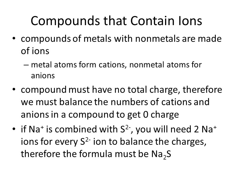 Compounds that Contain Ions