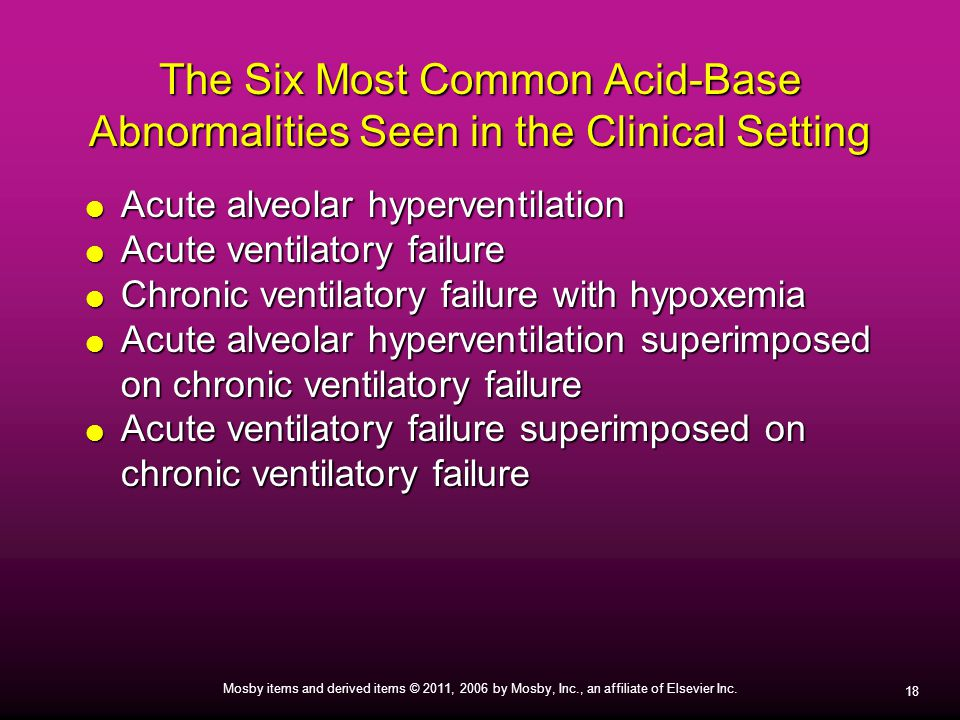 The Six Most Common Acid-Base Abnormalities Seen in the Clinical Setting