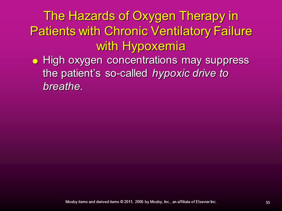 The Hazards of Oxygen Therapy in Patients with Chronic Ventilatory Failure with Hypoxemia