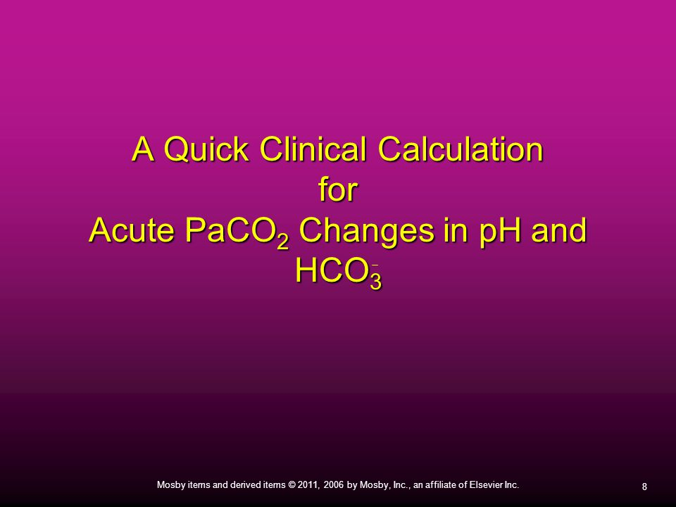 A Quick Clinical Calculation for Acute PaCO2 Changes in pH and HCO3