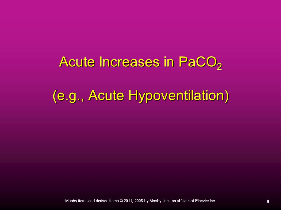 Acute Increases in PaCO2 (e.g., Acute Hypoventilation)