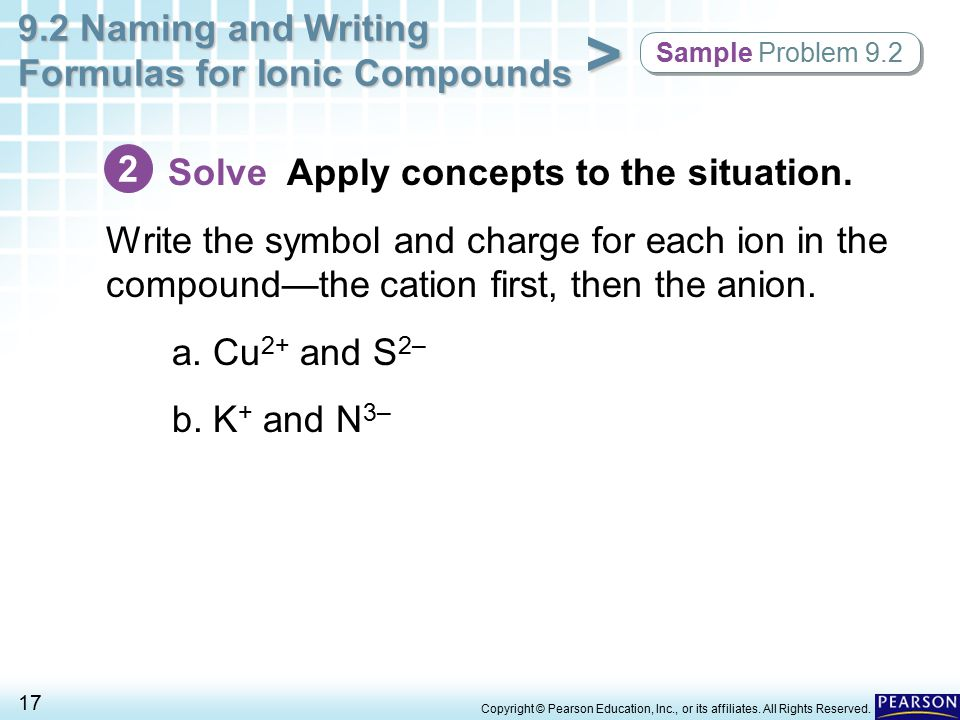 Solve Apply concepts to the situation.