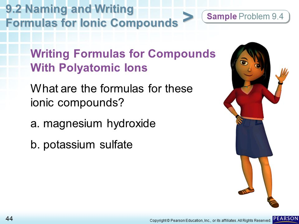 Writing Formulas for Compounds With Polyatomic Ions