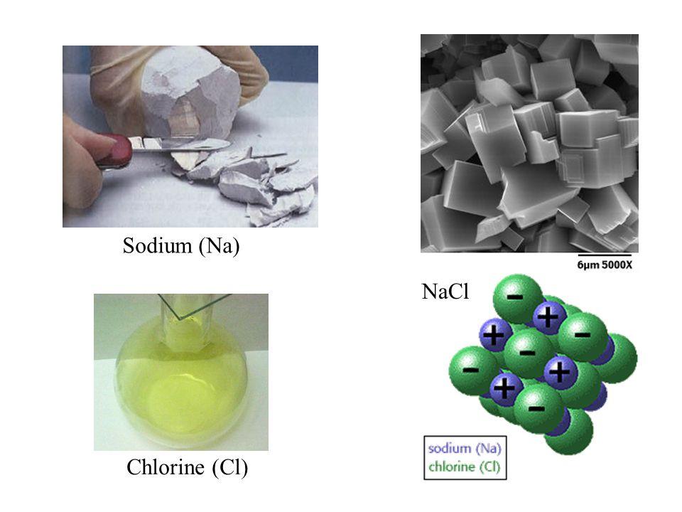 Sodium (Na) NaCl Chlorine (Cl)