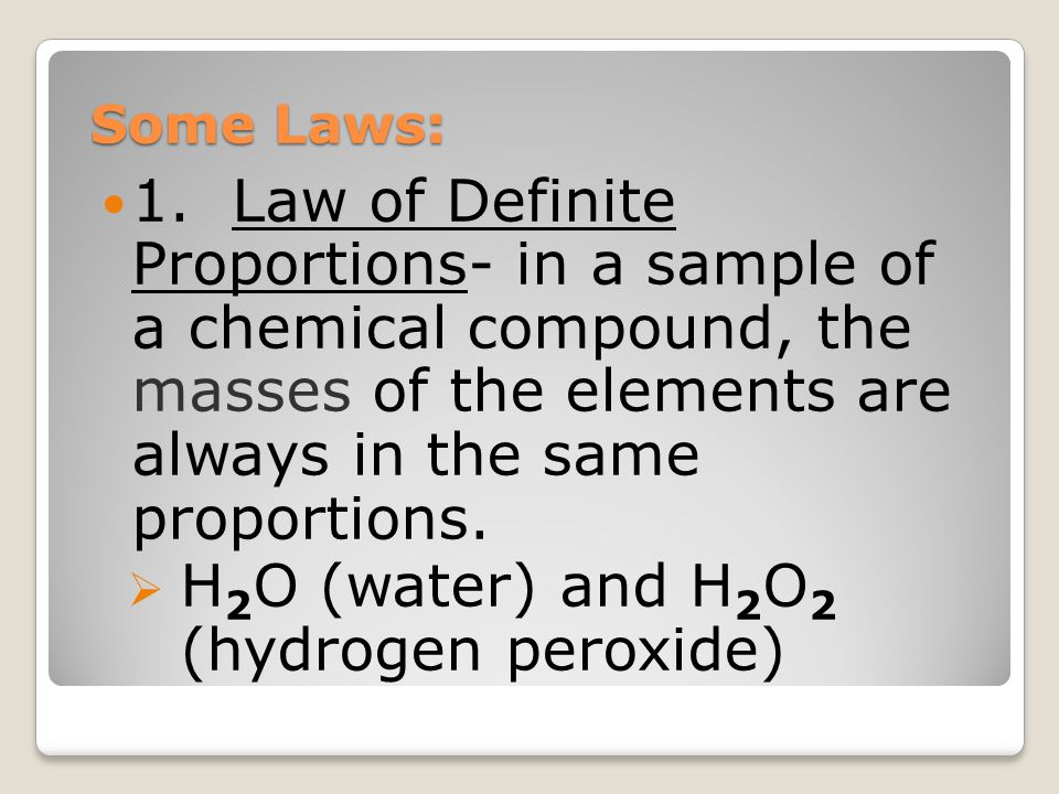 H2O (water) and H2O2 (hydrogen peroxide)