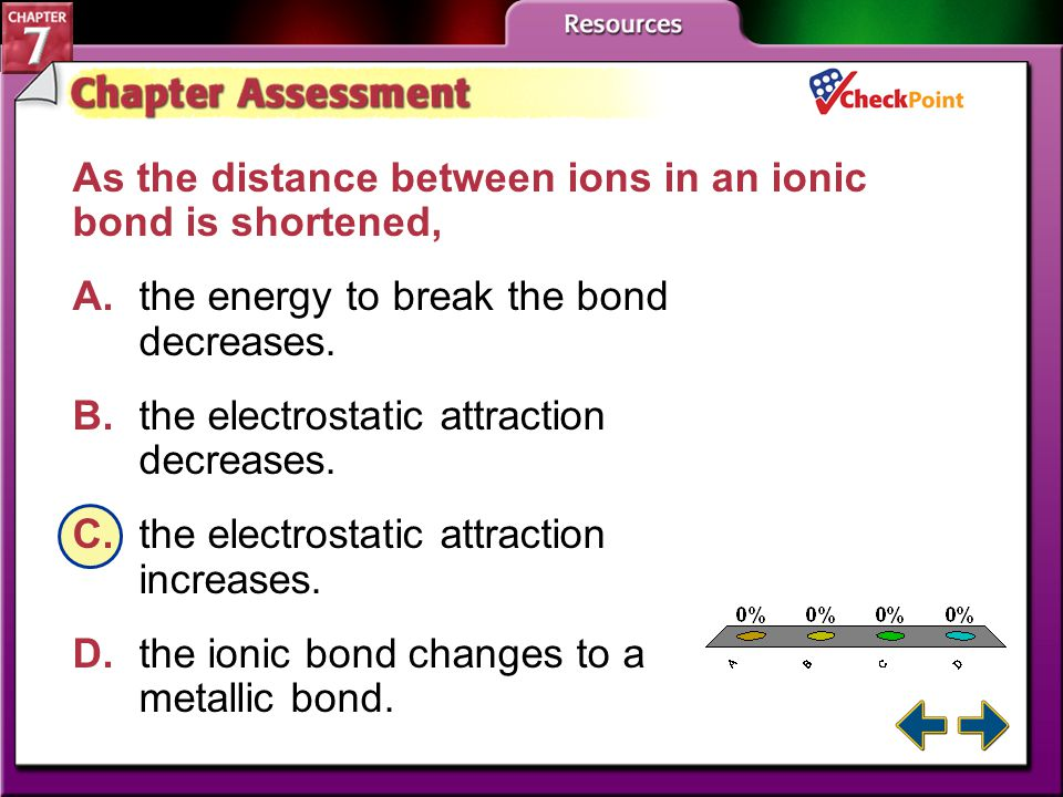 A B C D As the distance between ions in an ionic bond is shortened,