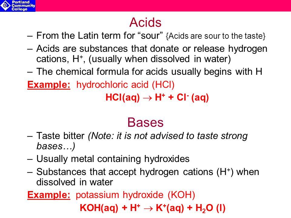 KOH(aq) + H+  K+(aq) + H2O (l)