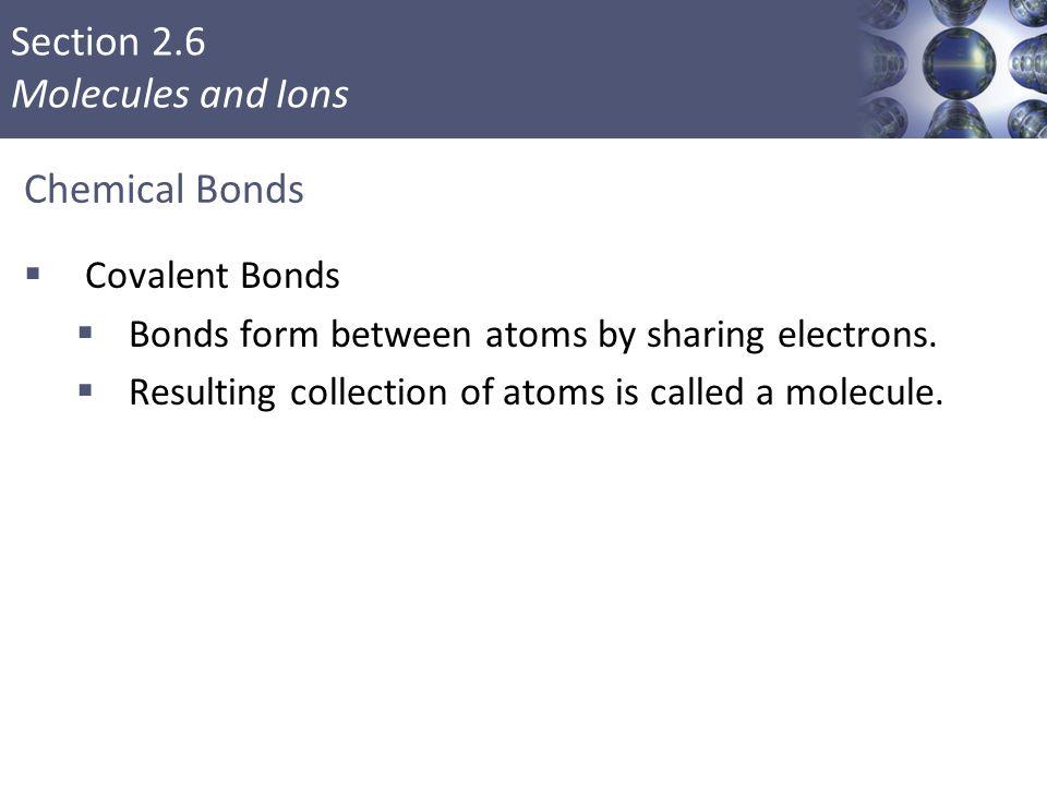 Chemical Bonds Covalent Bonds