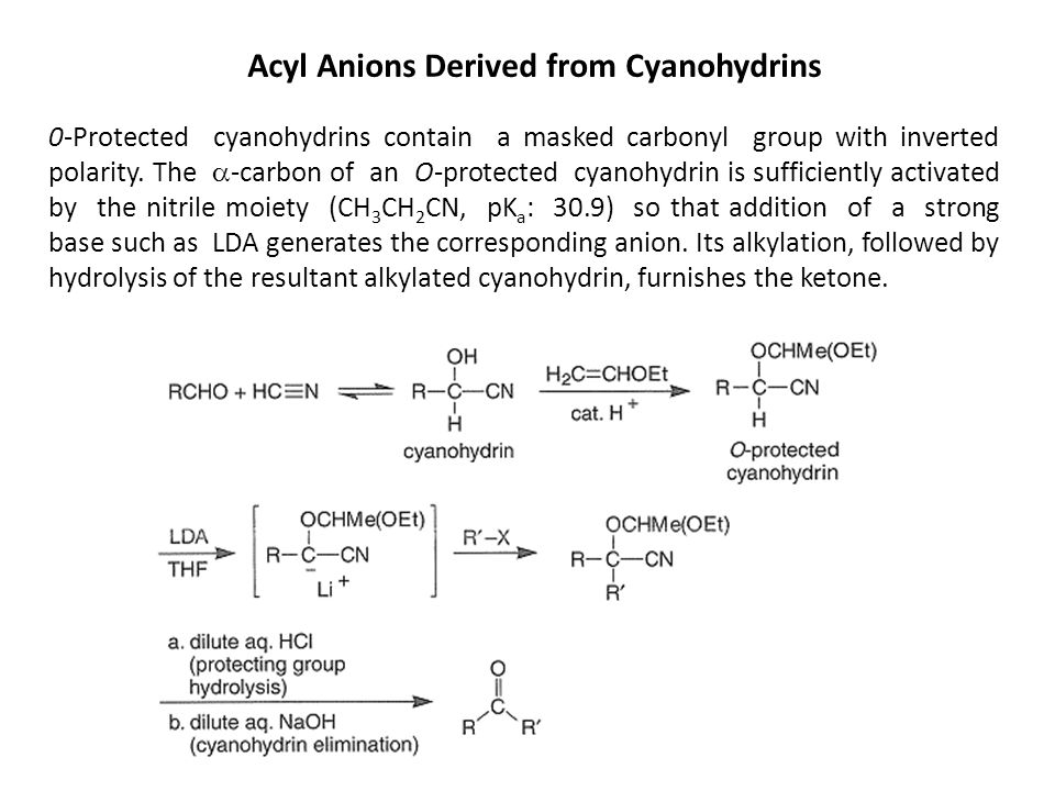 Acyl Anions Derived from Cyanohydrins