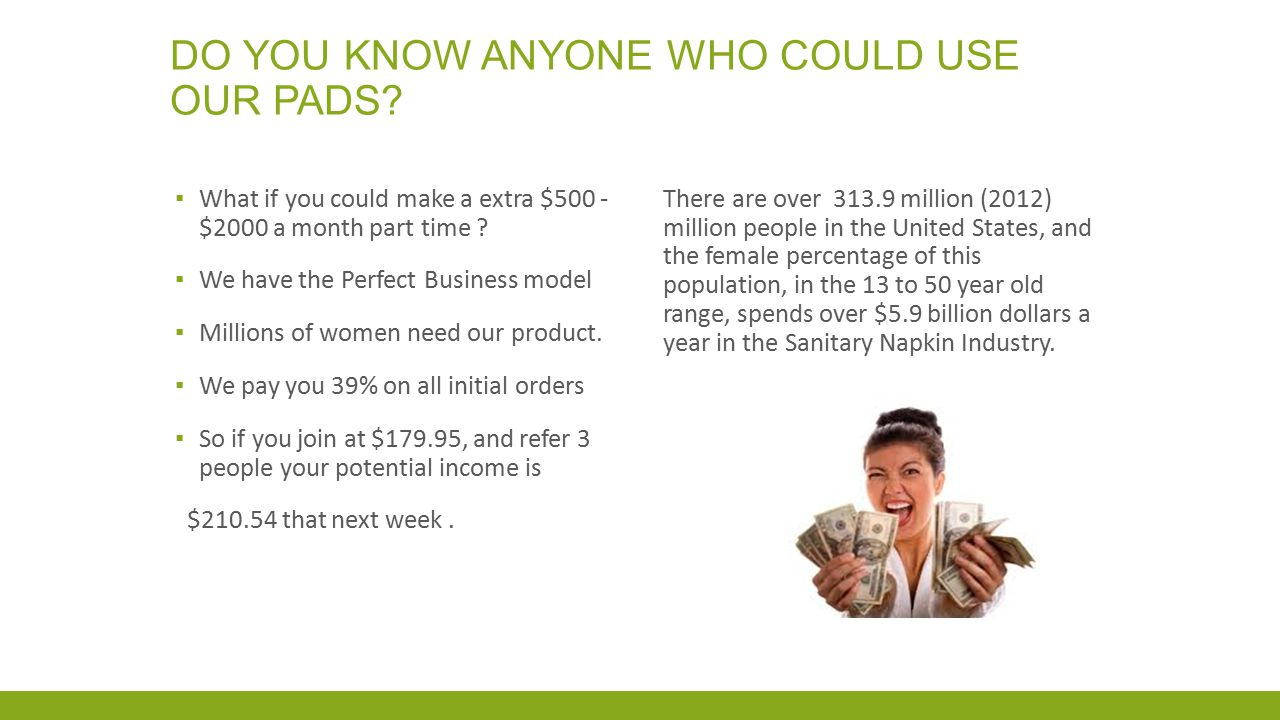 Do you know anyone who could use our pads