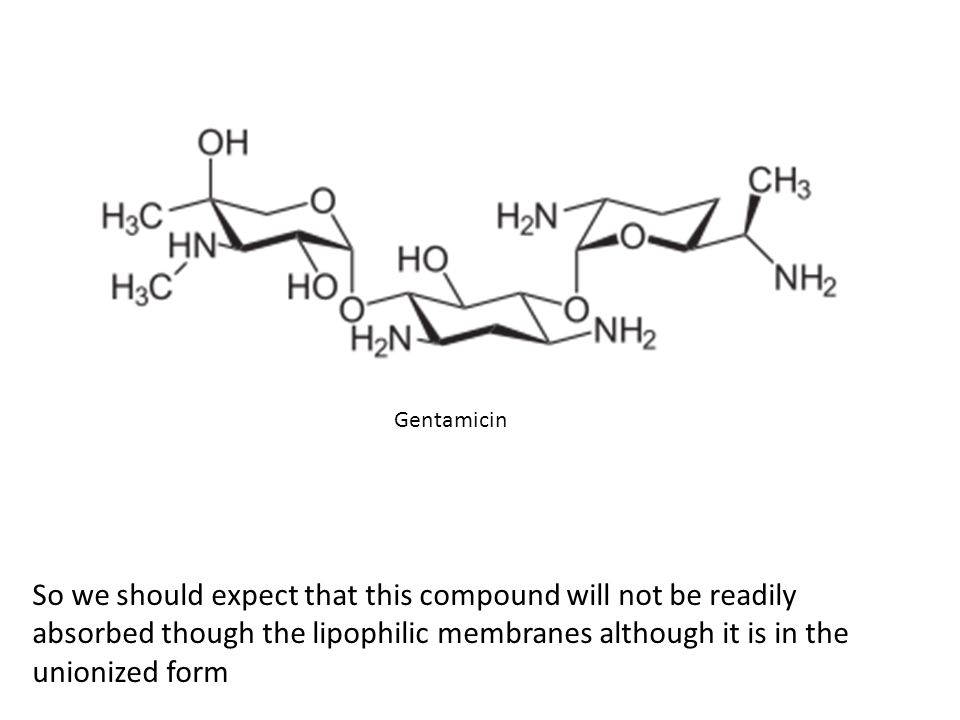 So we should expect that this compound will not be readily