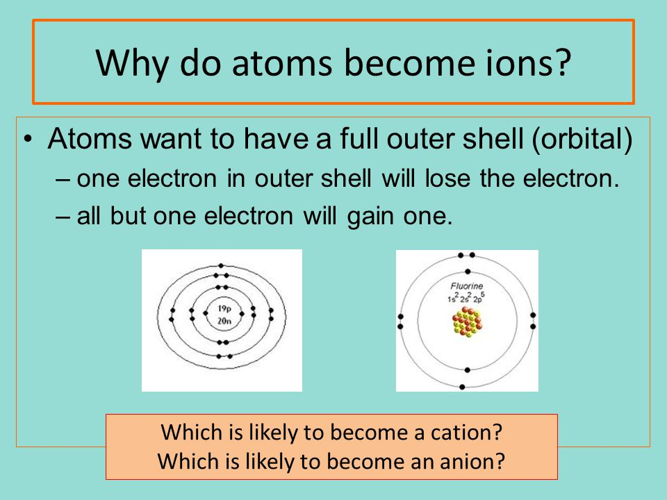 Why do atoms become ions