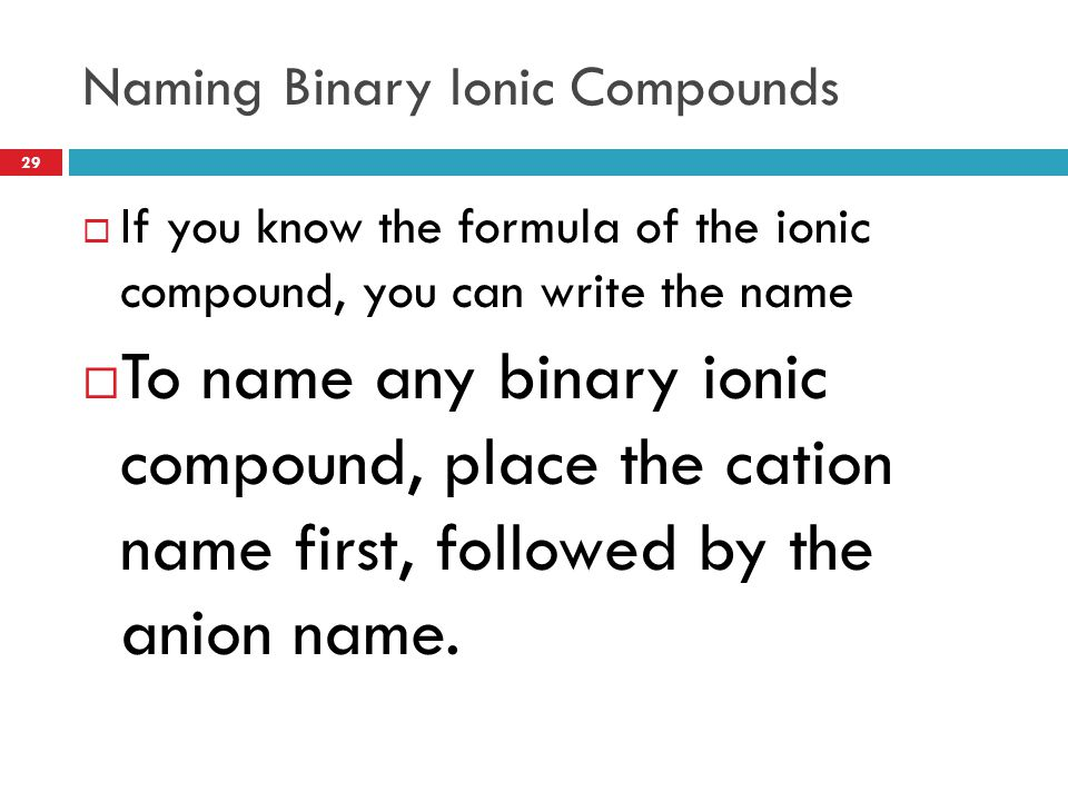 Chapter 9: Chemical Names and Formulas - ppt video online ...