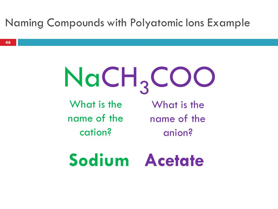 Naming Compounds with Polyatomic Ions Example