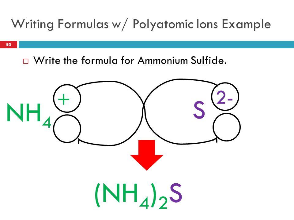 Writing Formulas w/ Polyatomic Ions Example