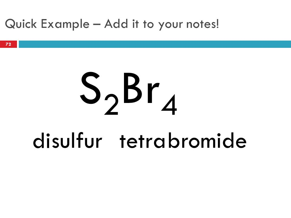 Quick Example – Add it to your notes!