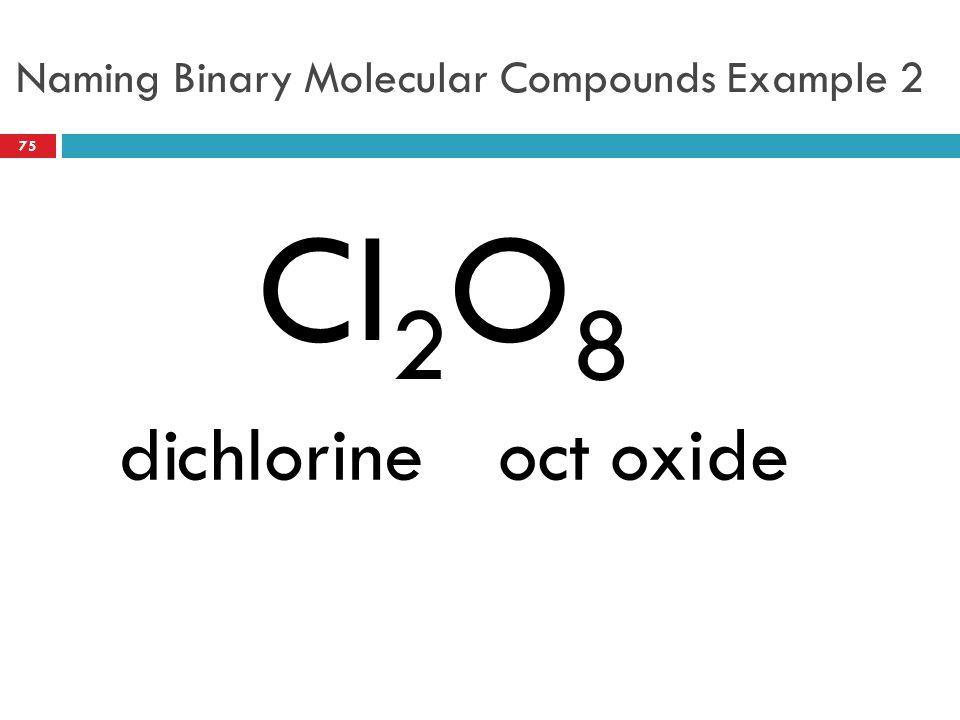 Naming Binary Molecular Compounds Example 2