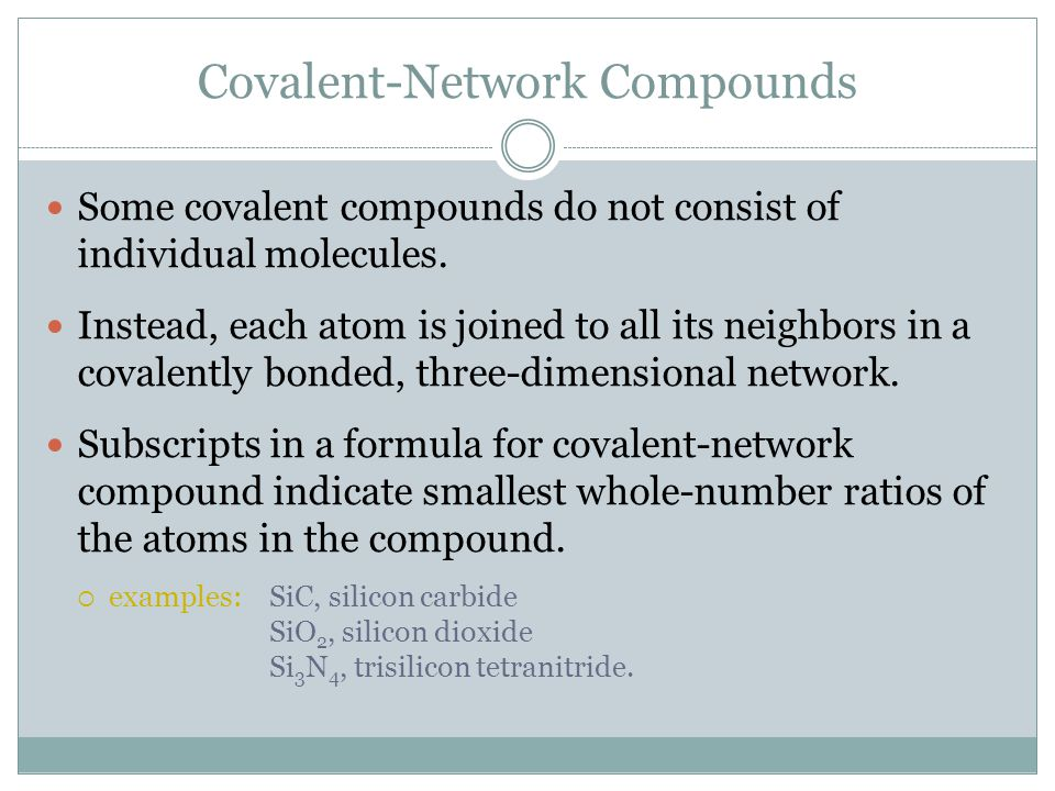 Covalent-Network Compounds