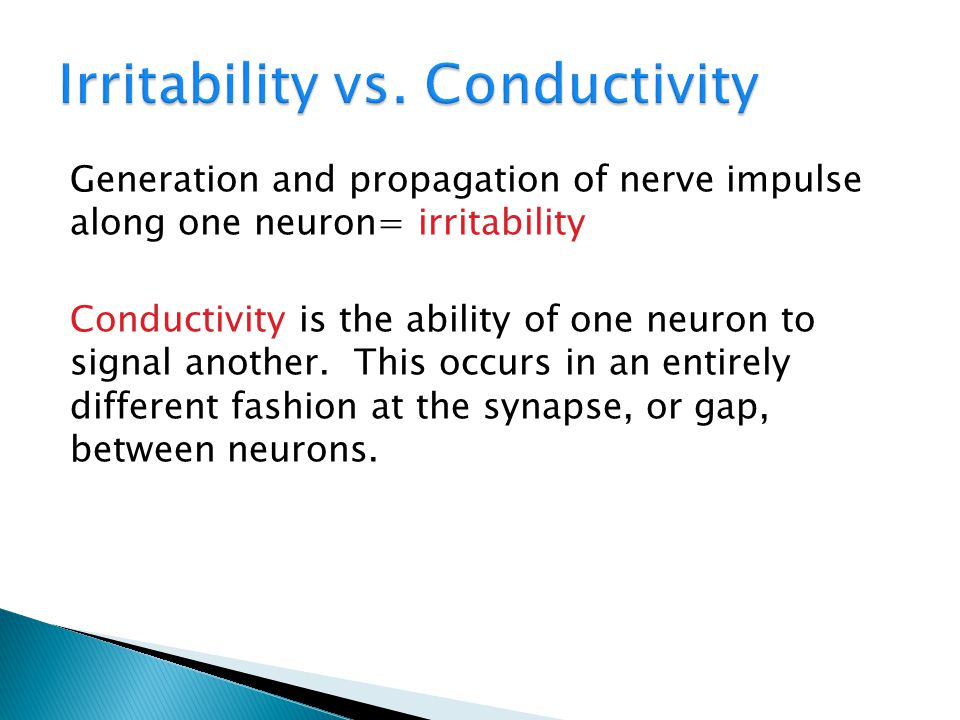 Irritability vs. Conductivity
