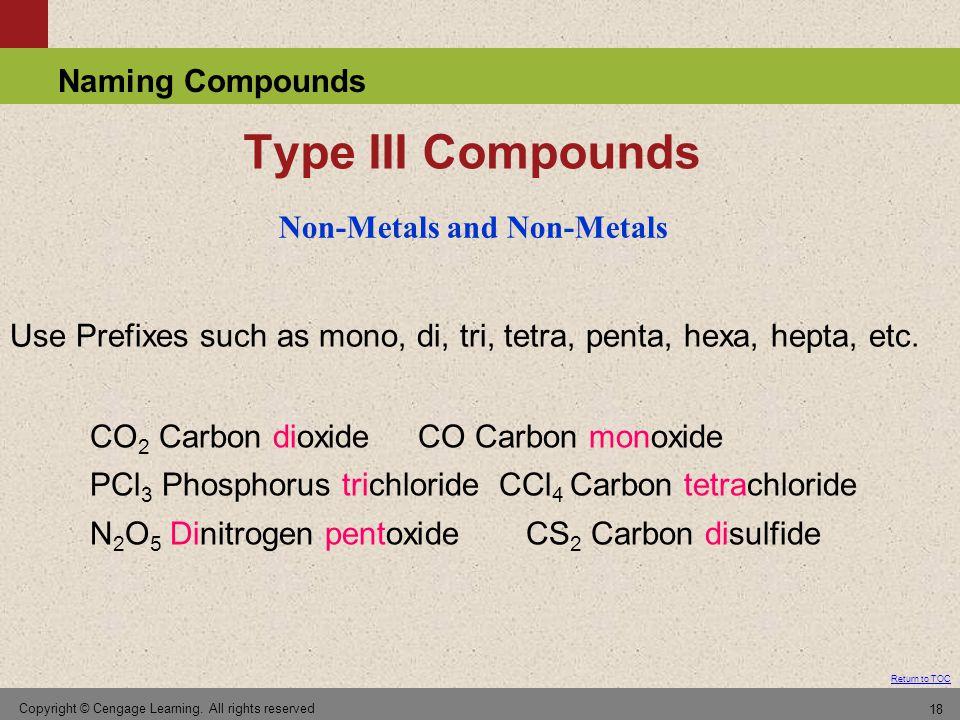 Non-Metals and Non-Metals