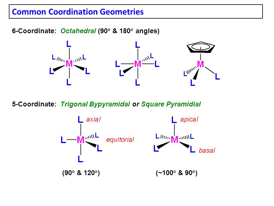 Common Coordination Geometries