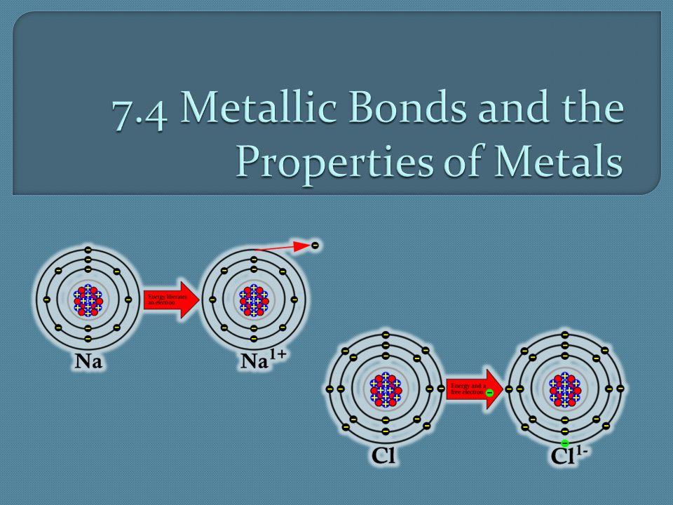 7.4 Metallic Bonds and the Properties of Metals
