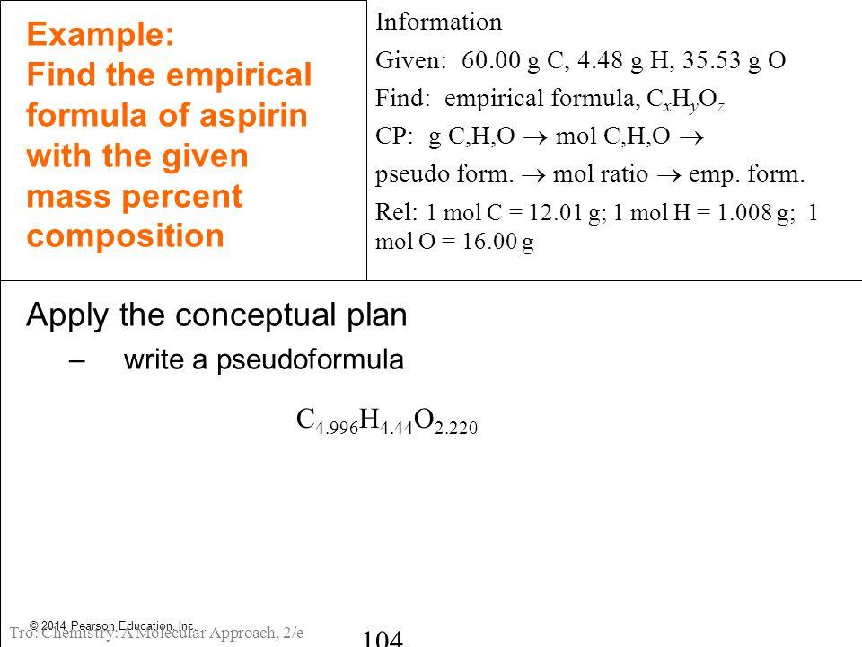 Apply the conceptual plan