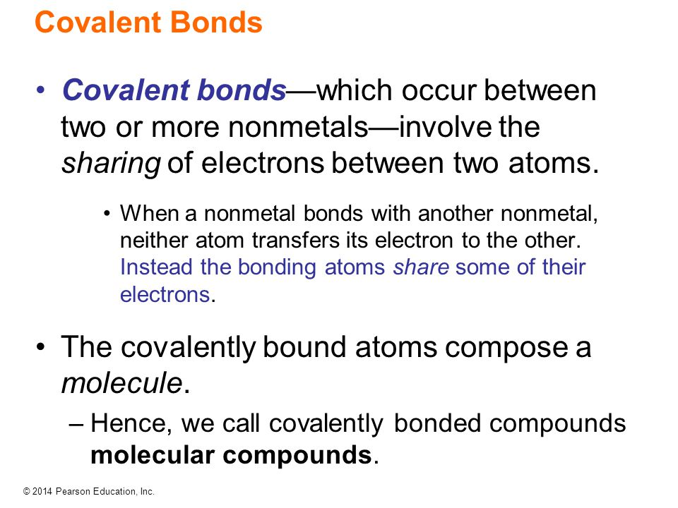The covalently bound atoms compose a molecule.