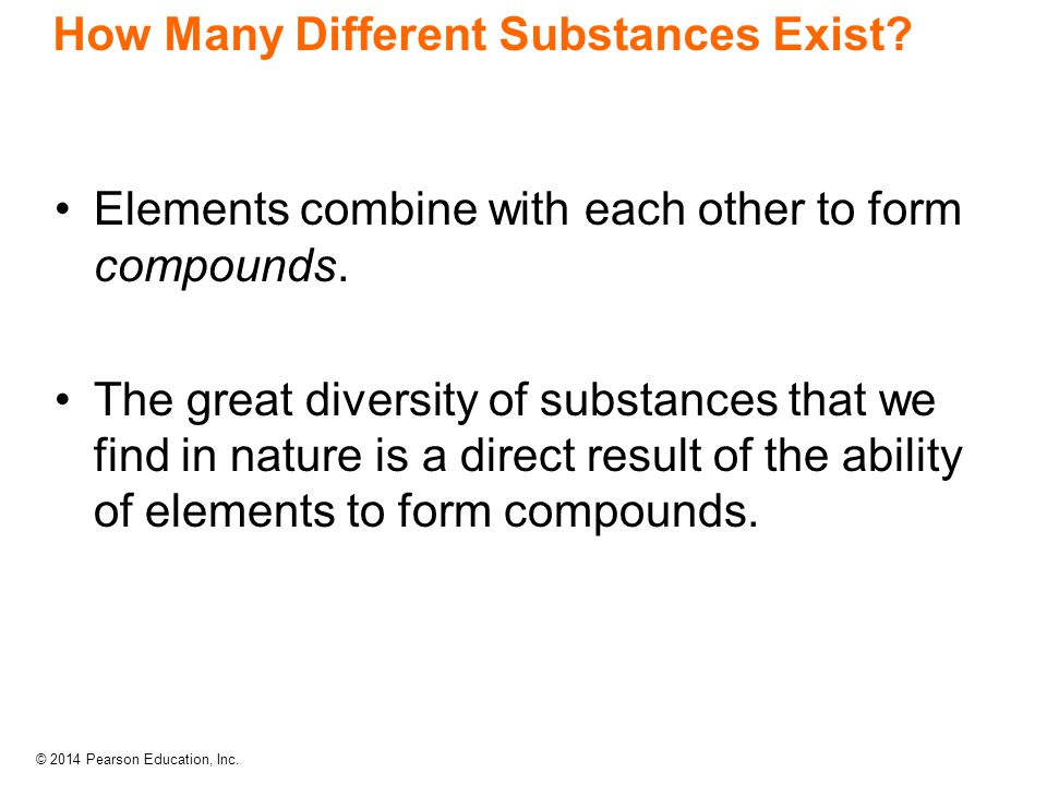How Many Different Substances Exist