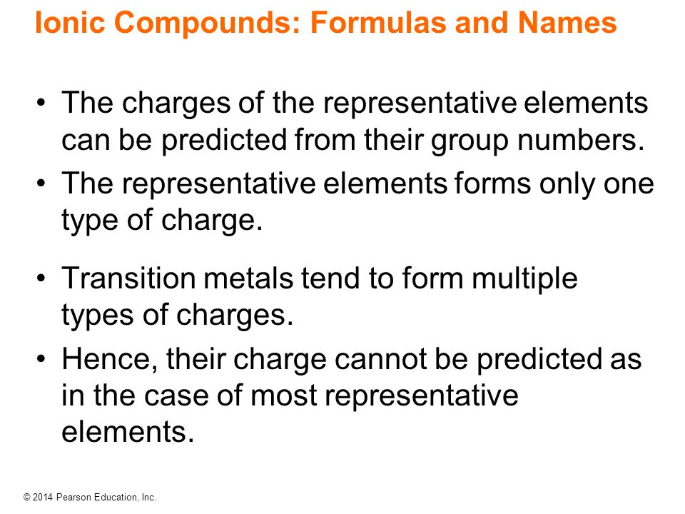 Ionic Compounds: Formulas and Names