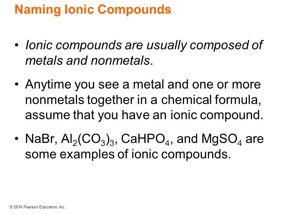 naming of ionic compound