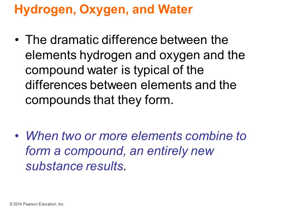 Hydrogen, Oxygen, and Water