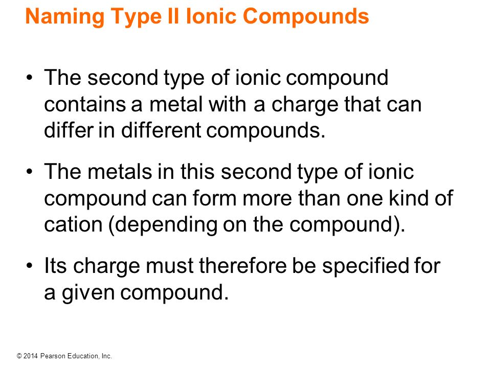 Naming Type II Ionic Compounds