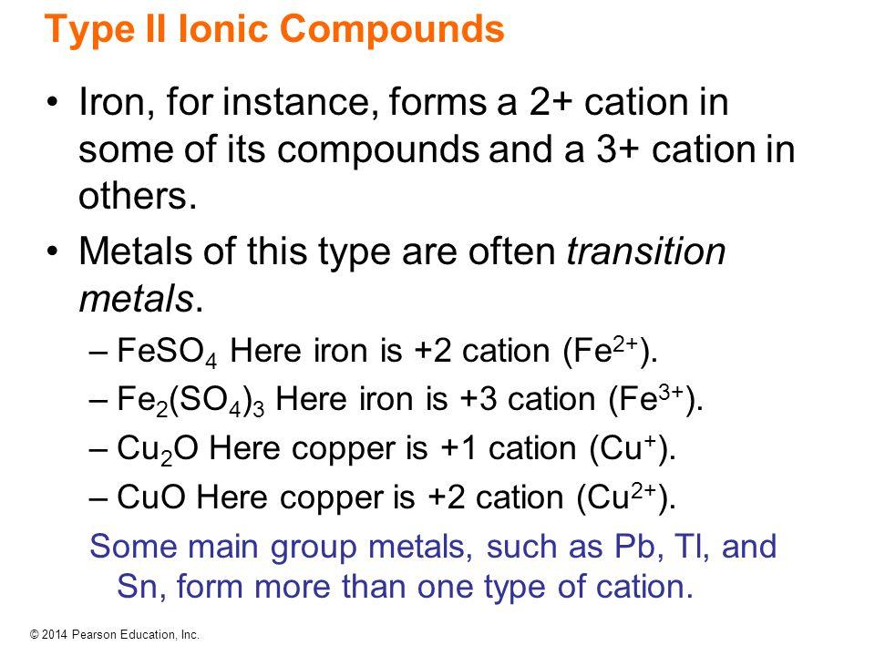 Type II Ionic Compounds