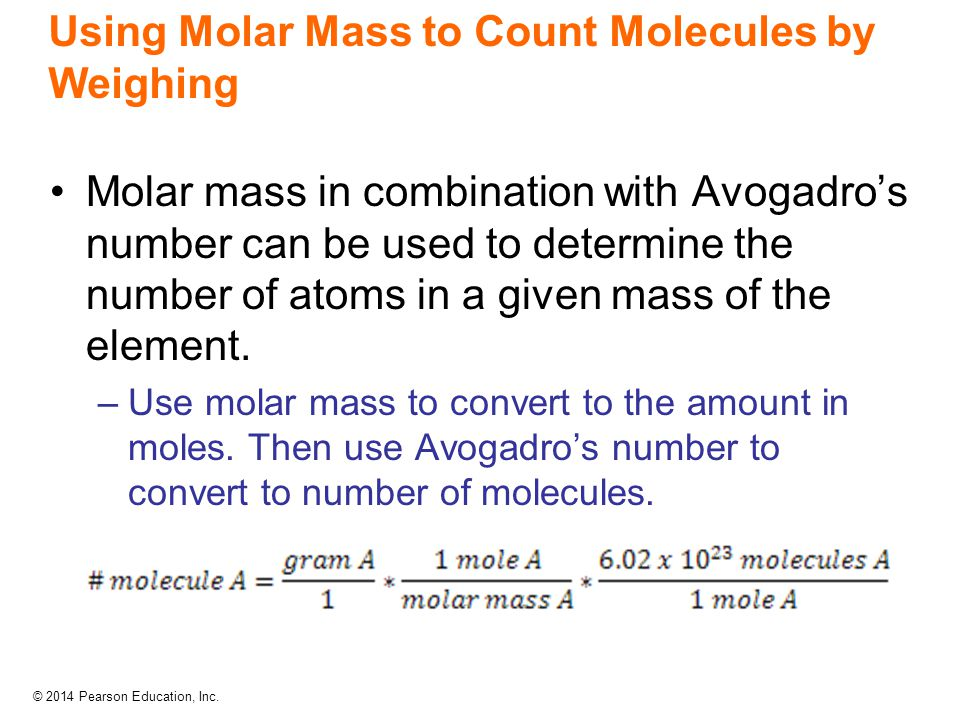 Using Molar Mass to Count Molecules by Weighing