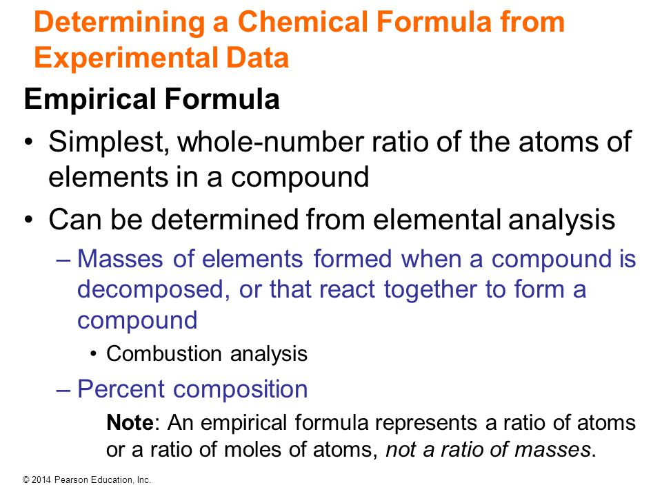 Determining a Chemical Formula from Experimental Data