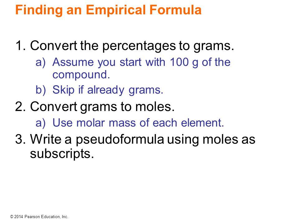 Finding an Empirical Formula