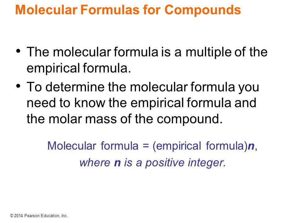 Molecular Formulas for Compounds