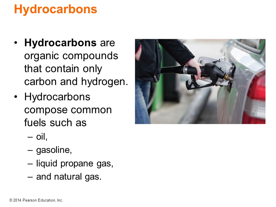Hydrocarbons Hydrocarbons are organic compounds that contain only carbon and hydrogen. Hydrocarbons compose common fuels such as.