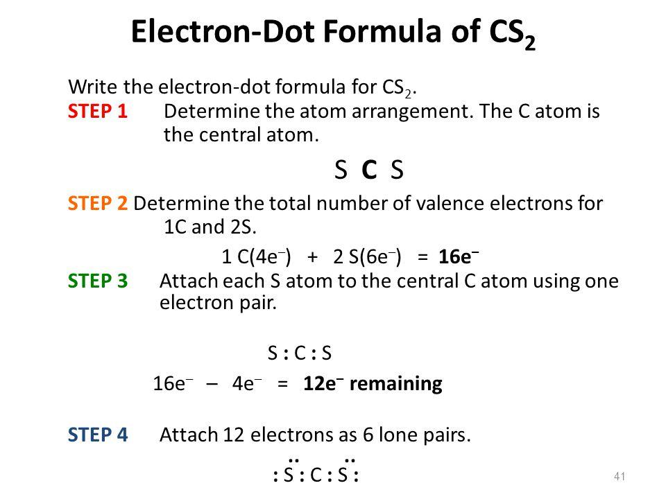 Electron-Dot Formula of CS2