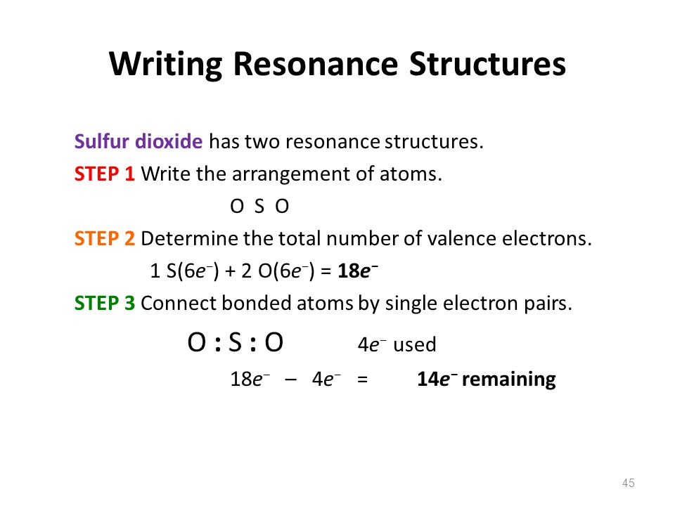 Writing Resonance Structures