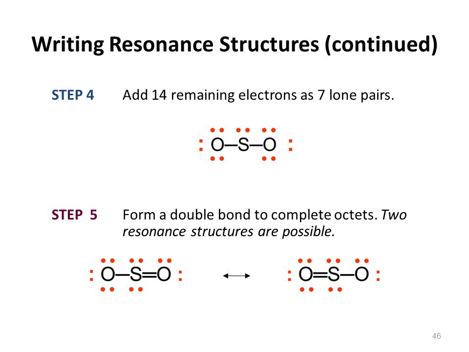 Writing Resonance Structures (continued)