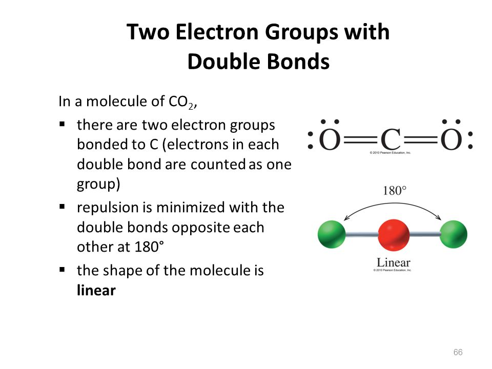 Two Electron Groups with Double Bonds