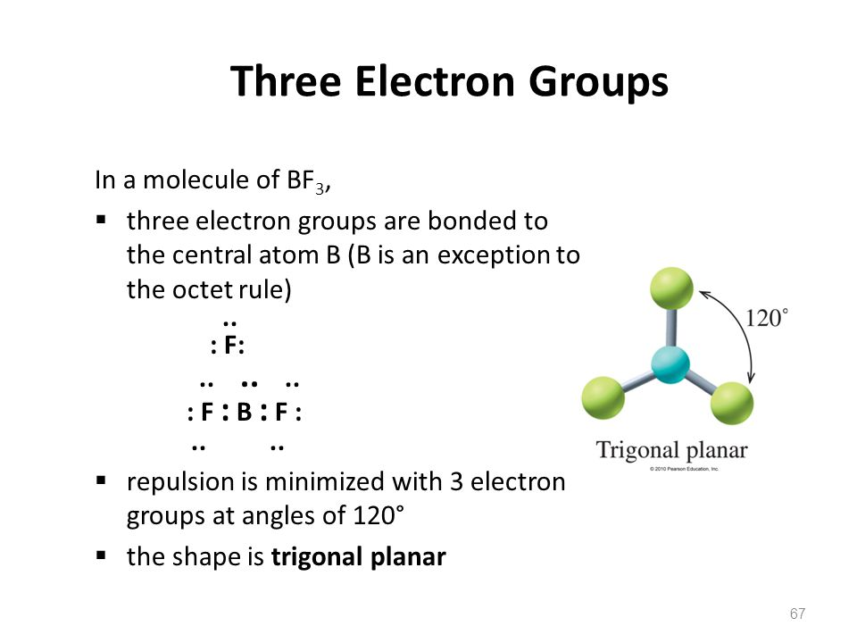 Three Electron Groups In a molecule of BF3,