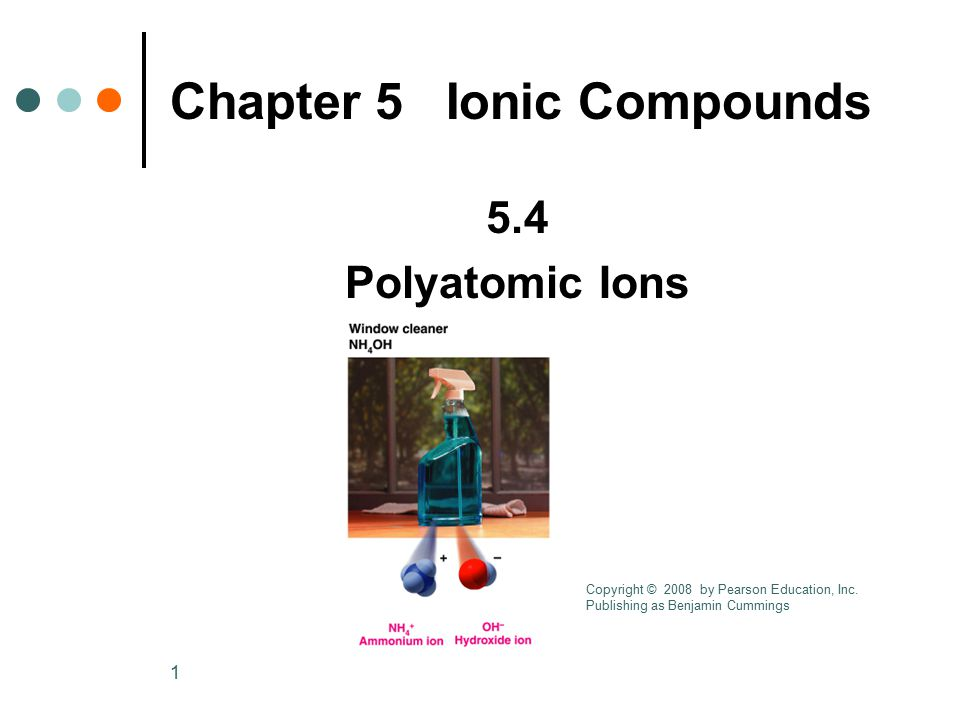 Chapter 5 Ionic Compounds