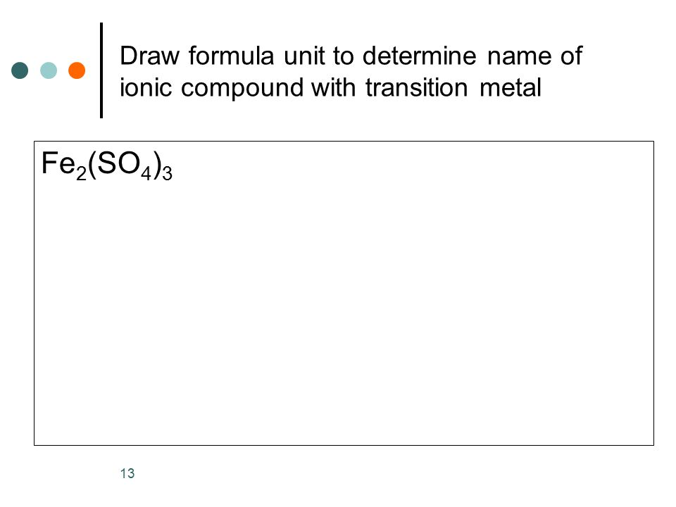 determination of the formula unit of a compound essay Compounds and ionic compounds, the first step in naming or writing the formula of a compound is to determine which of the 2 compound classes it belongs this in compound where there is just one formula unit of a polyatomic ion, no parenthesis are needed.