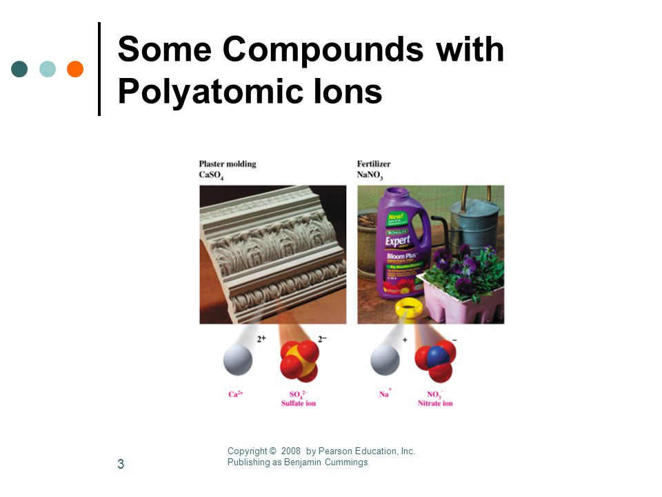 Some Compounds with Polyatomic Ions